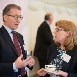 APPG for District Councils Summer Reception, APPG chairman Mark Pawsey with DCLG director of local government policy Jillian Kay