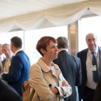 APPG for District Councils Summer Reception, Jacqui McKinlay, chief executive Centre for Public Scrutiny, Cllr Peter Fleming, leader Sevenoaks District Council, DCN Members' Board