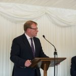 APPG for District Councils summer reception, Marcus Jones MP minister for local government DCLG, DCN Chairman Cllr Neil Clarke