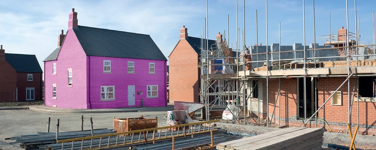 New homes under construction in district